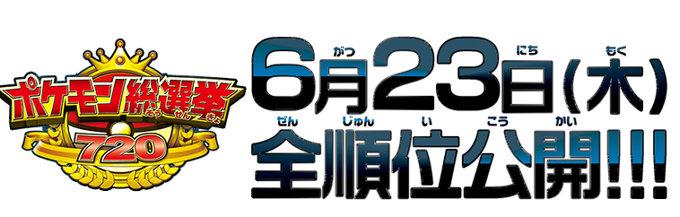 ポケモン総選挙720は、先日、100位まで+最下位のポケモンが映画公式サイトで公開されていますが、101位以下の順位は不明