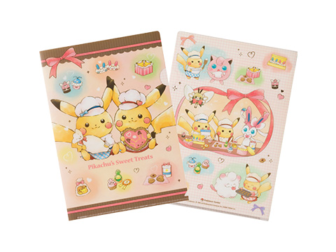 A4クリアファイル Pikachu's Sweet Treats 240円