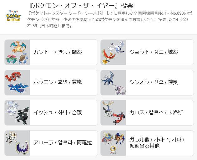 「Pokemon of the Year」(ポケモン・オブ・ザ・イヤー)というイベントが実施されています