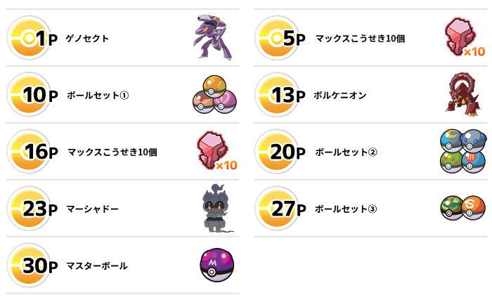 「幻のポケモンゲットチャレンジ」では、マスターボールをはじめ、様々な種類のボールも入手出来ます