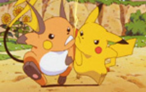 ピカチュウ&ライチュウは、ポケモン映画の初代短編作品「ピカチュウのなつやすみ」に出て来たシーンをイメージ