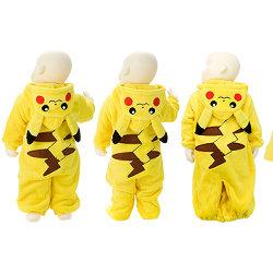 ポケモンのベビー服が登場。赤ちゃんがピカチュウになりきれる着ぐるみ4種類