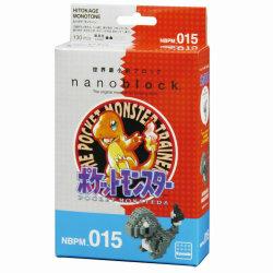 ナノブロック ポケットモンスター モノトーン、パッケージが懐かしの初代風デザインに