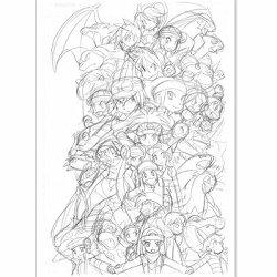 ポケスペ「山本サトシ画集」発売記念のサイン会。登場キャラ6世代に分けた
