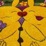 八丈島のピカチュウの花絵が完成。増田順一氏も参加したフリージアインフィオラータ