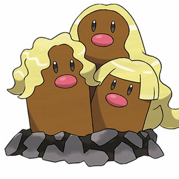 生えたのは髪の毛じゃなくヒゲ。ディグダとダグトリオ アローラの姿