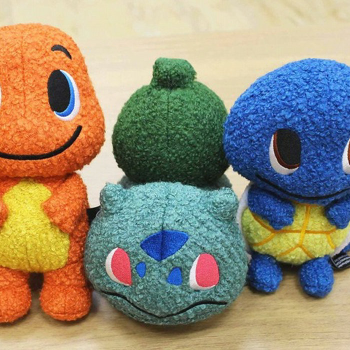 pokemon time 第10弾のグッズ、ピカチュウ(オス メス)、フシギダネ、ヒトカゲ、ゼニガメ