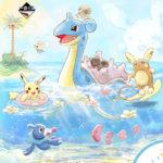 一番くじ Pikachu and Friends HAPPY BEACH TIME登場。アローラな南国の海とラプラス、ヤドン、カビゴンなど