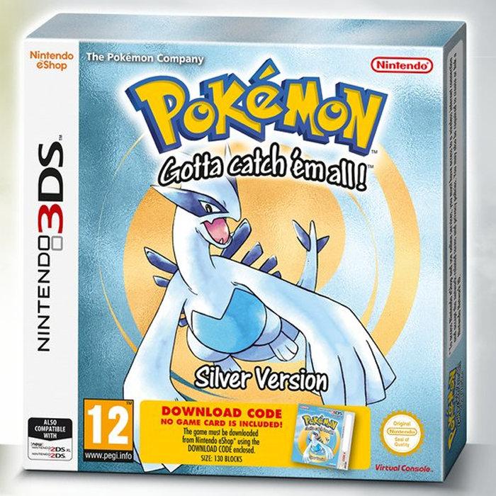 ポケットモンスター金・銀、3DSダウンロード版パッケージ海外
