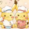 ピカチュウたちがお菓子作りのお手伝いをしているデザインのグッズ登場