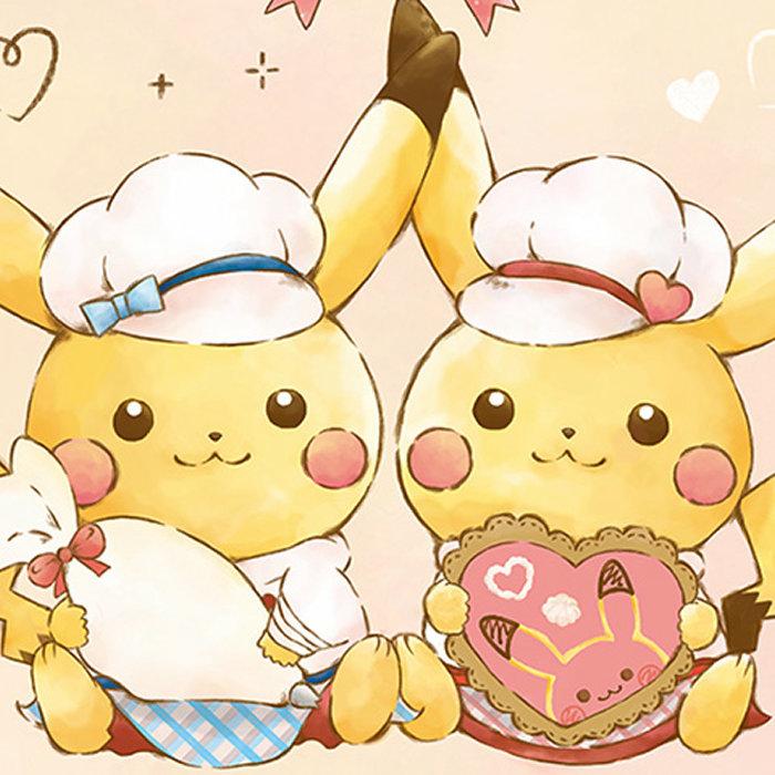 ピカチュウたちがお菓子作りのお手伝いデザインのグッズ