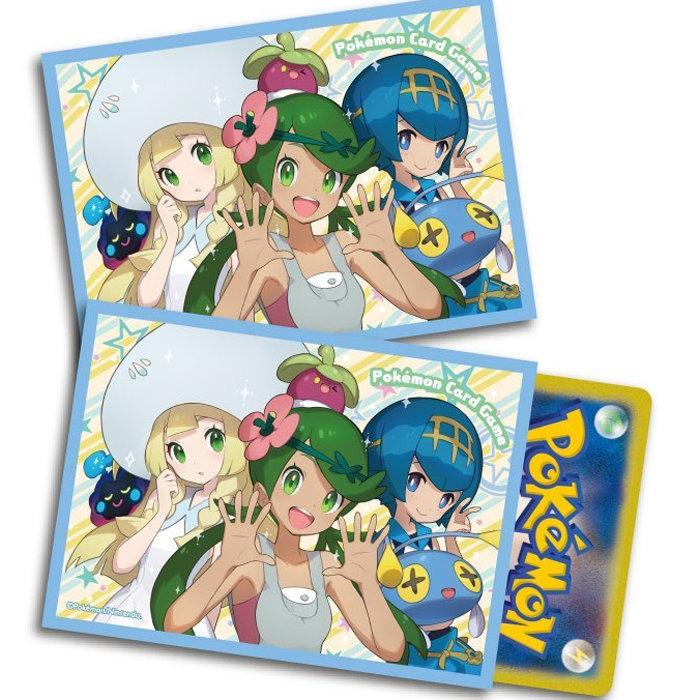 ポケモンカードゲーム、マオとスイレン、リーリエのデッキシールド