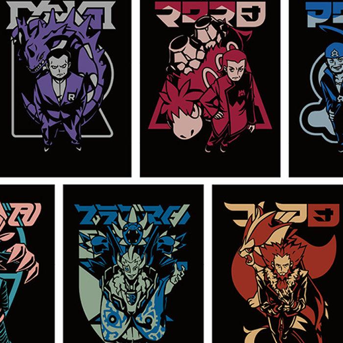 ポケモンの歴代ボスをNC帝國がデザイン、Tシャツなどのグッズ