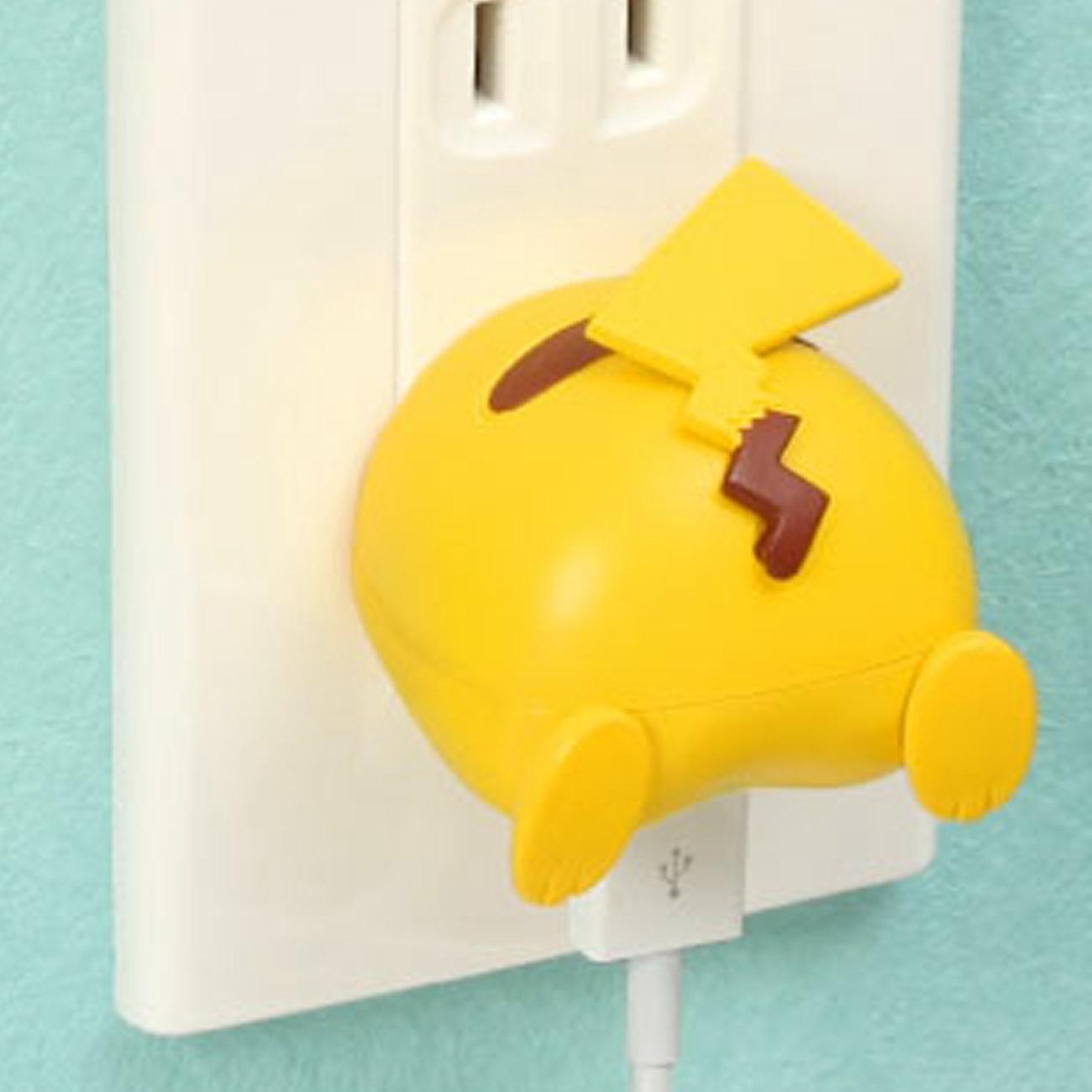 ピカチュウのおしりデザインのポケモンUSB充電器