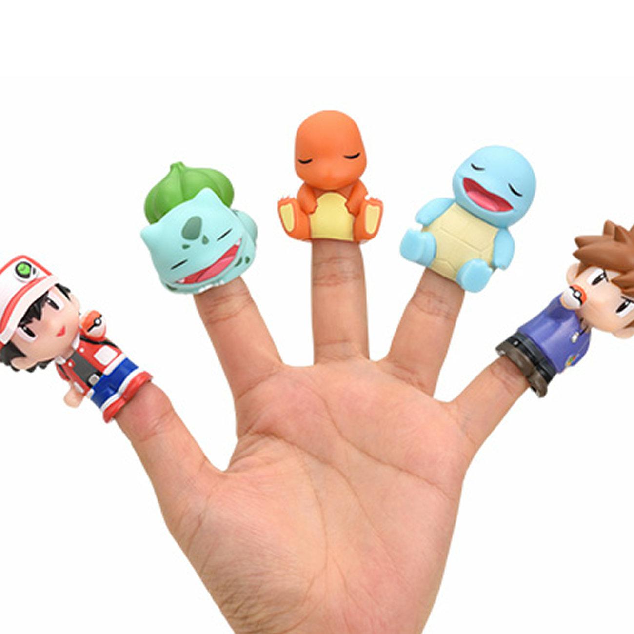 ポケモン指人形レッドとグリーン。初代の御三家