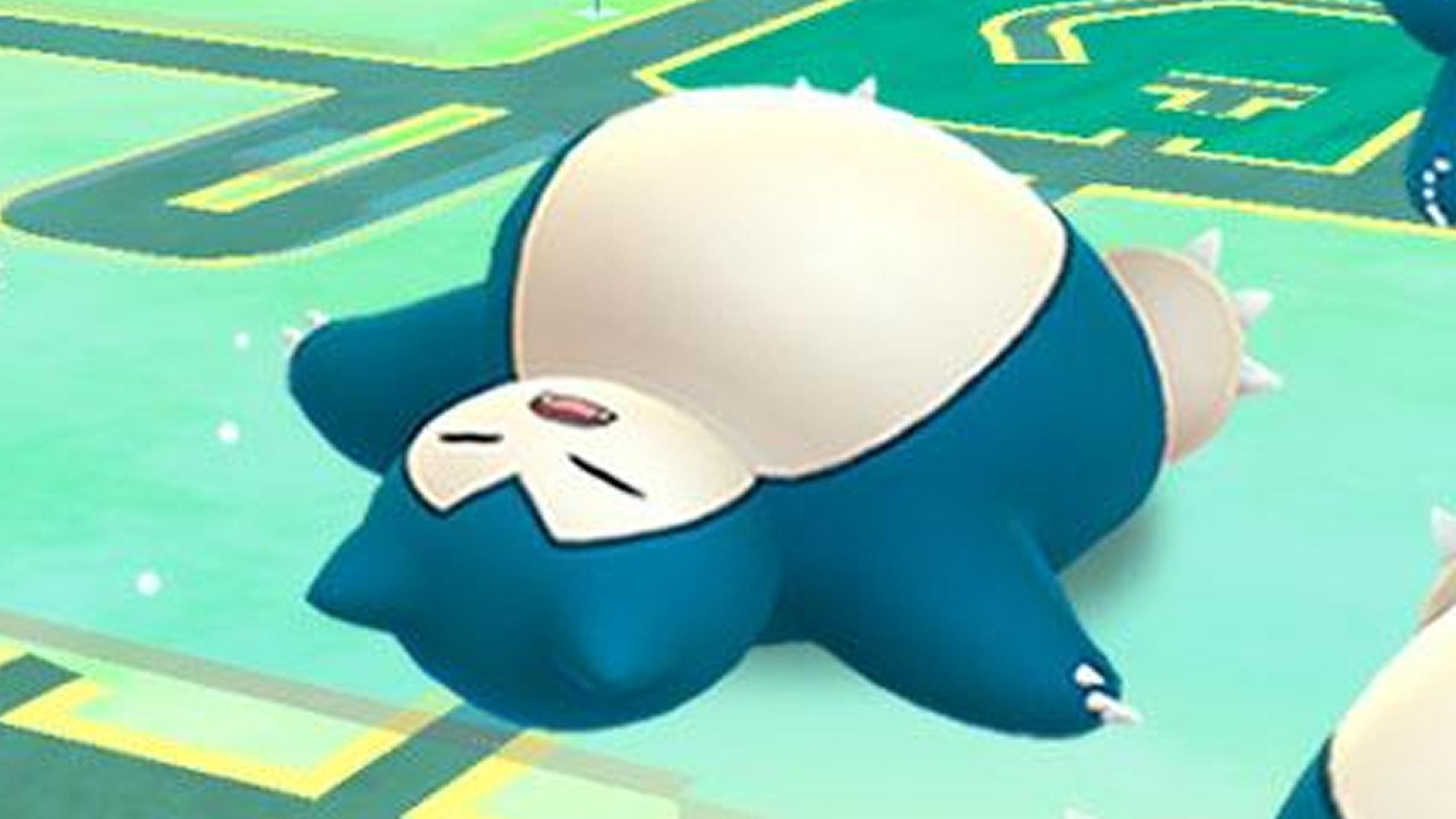 ポケモンGO、寝ているカビゴン原作を再現。ミノムッチのレイド