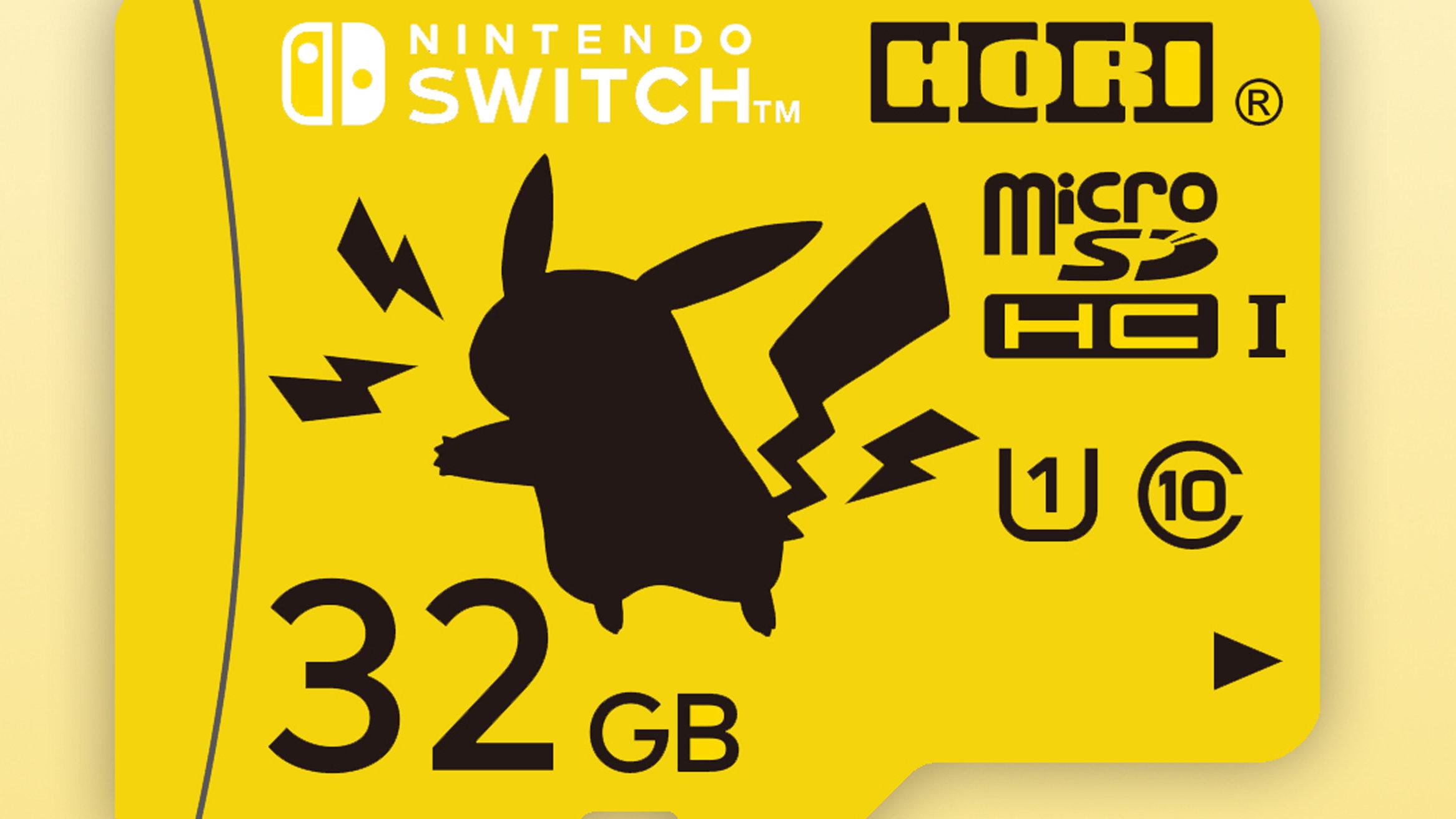 ポケモンのマイクロSDカード。ピカチュウ