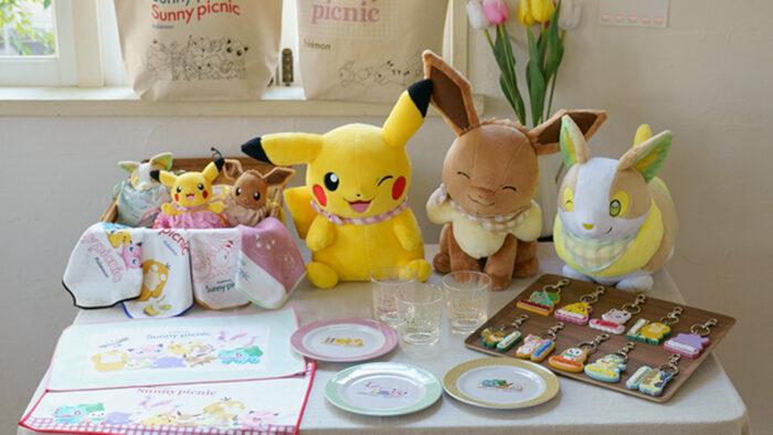 一番くじ Pokemon anytime Sunny picnic、ピカチュウやワンパチぬいぐるみなど